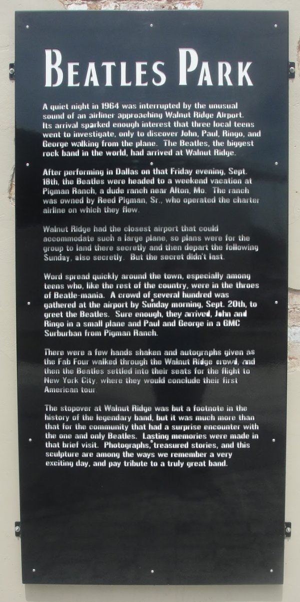 Beatles Park Sign